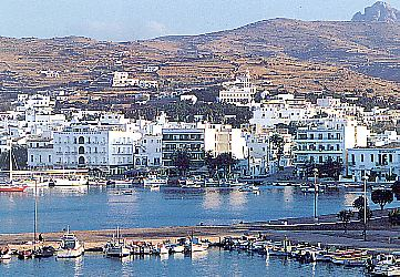 TINOS PHOTO GALLERY - Tinos - View of Hora and the port.