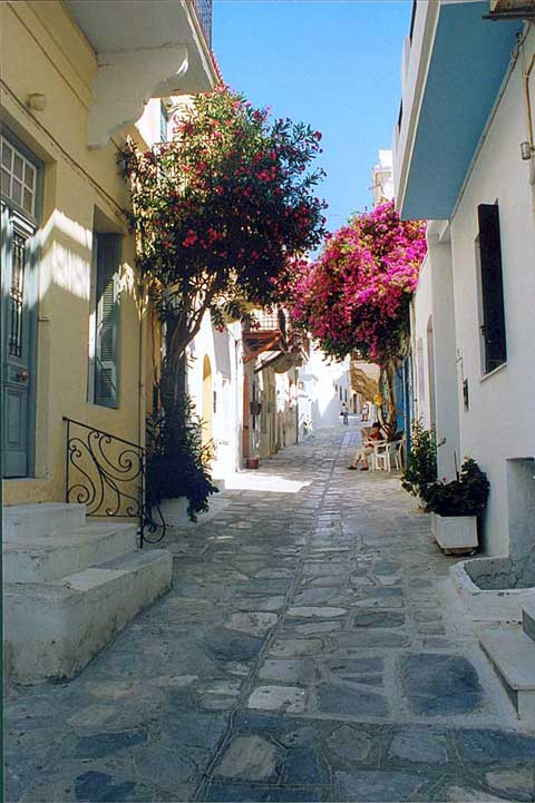 A traditional pathway in Chora, capital of Tinos TINOS PHOTO GALLERY - CHORA PATHWAY