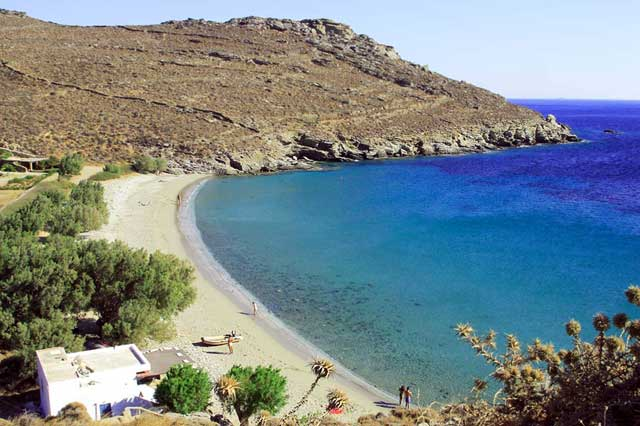 The beach of Kalyvia in Tinos TINOS PHOTO GALLERY - KALYVIA